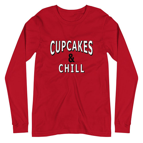 Cupcakes & Chill Unisex Long Sleeve Tee