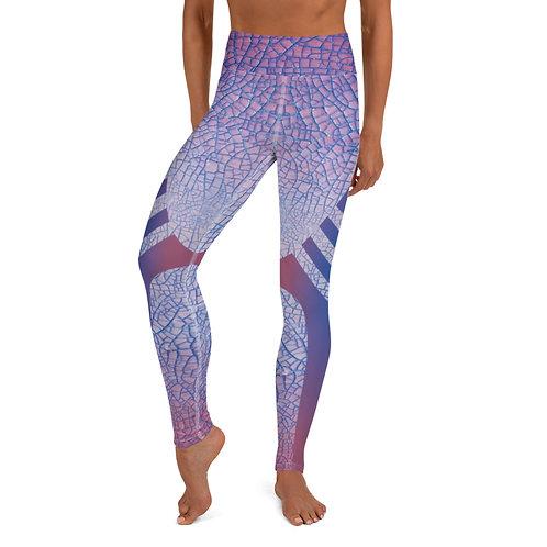 Pink Crackle Yoga Leggings
