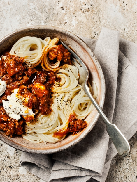 Bolognese with Muscat Bailey A