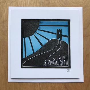 Tor Sunrise card - £3.50