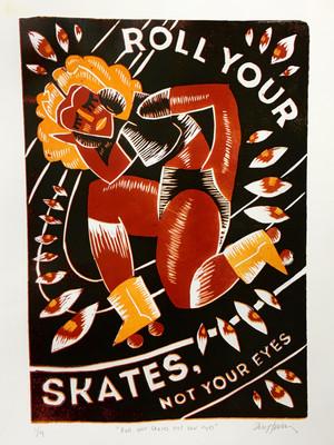 Rollerskate Print