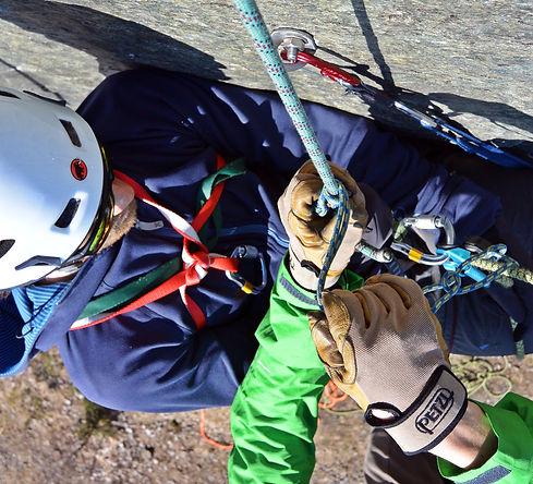 räddningskurs för klättrare