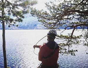 klätterkurs för blivande klippklätterinstruktörer