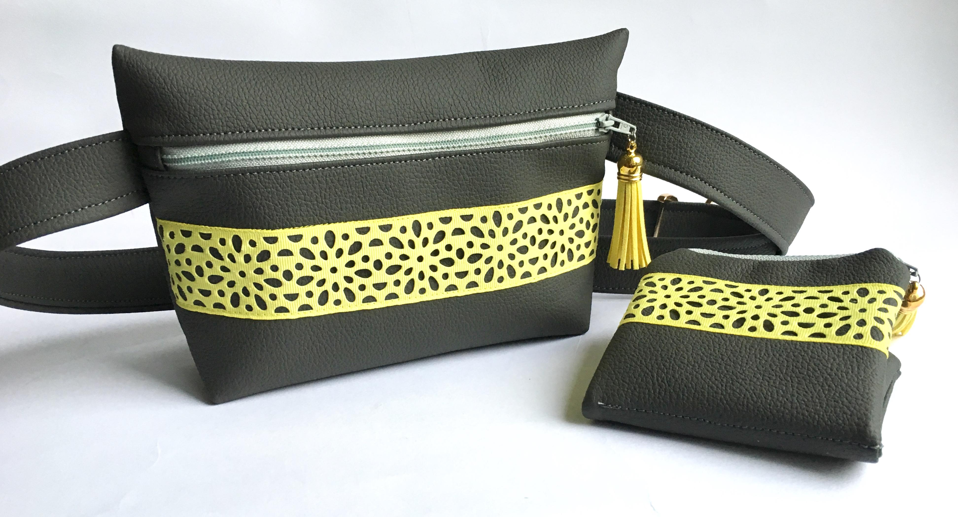 ensemble banana sac et portefeuille