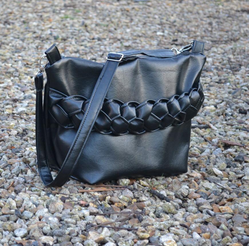 grand sac tresse noir