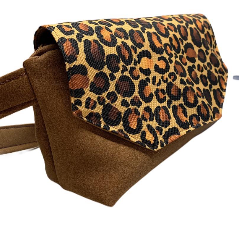 sac banane rabat marron mat & leopard