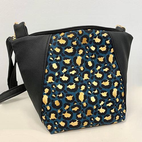 Un sac bandoulière MEDIO P noir & leopard #2