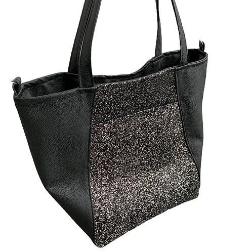 Un city bag noir paillettes
