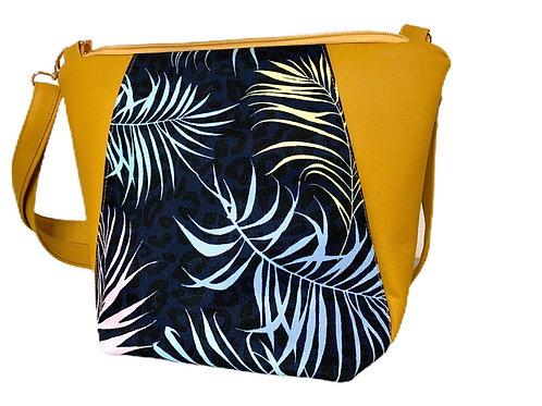 Un sac bandoulière MEDIO P jaune moutarde