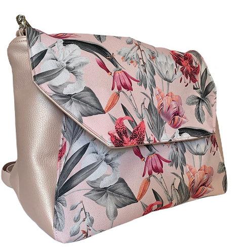 Un sac bandoulière rabat rose perle & les lys