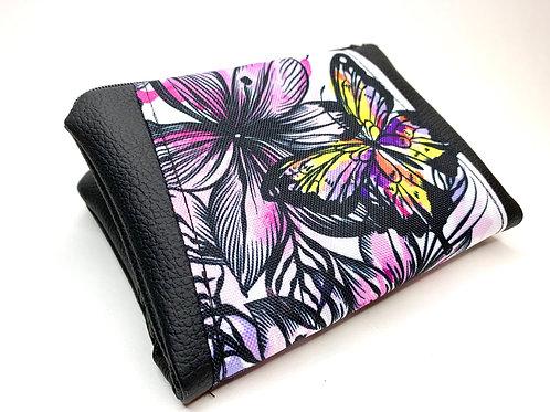 Un portefeuille noir & papillons