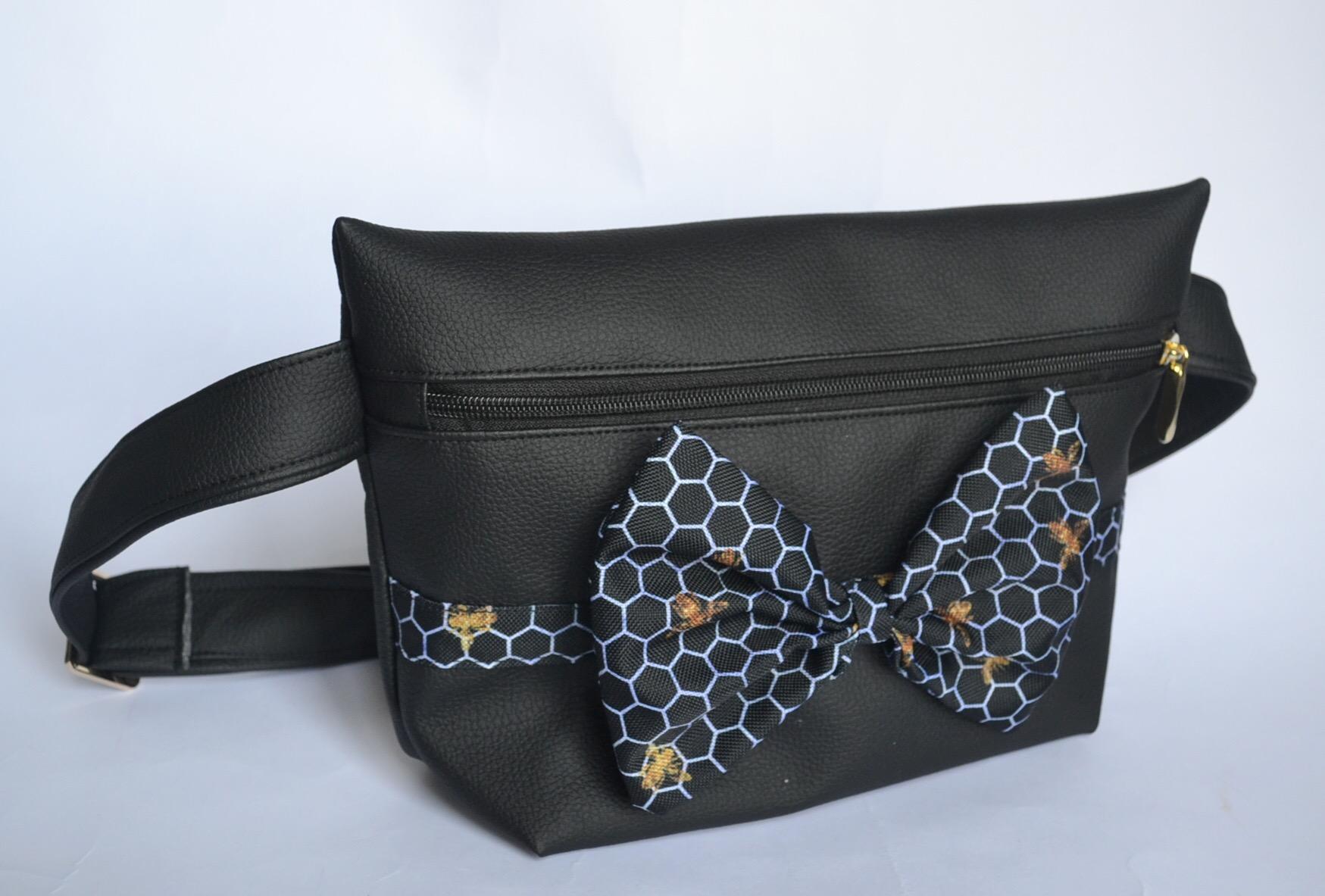 banana sac noir nid d'abeille
