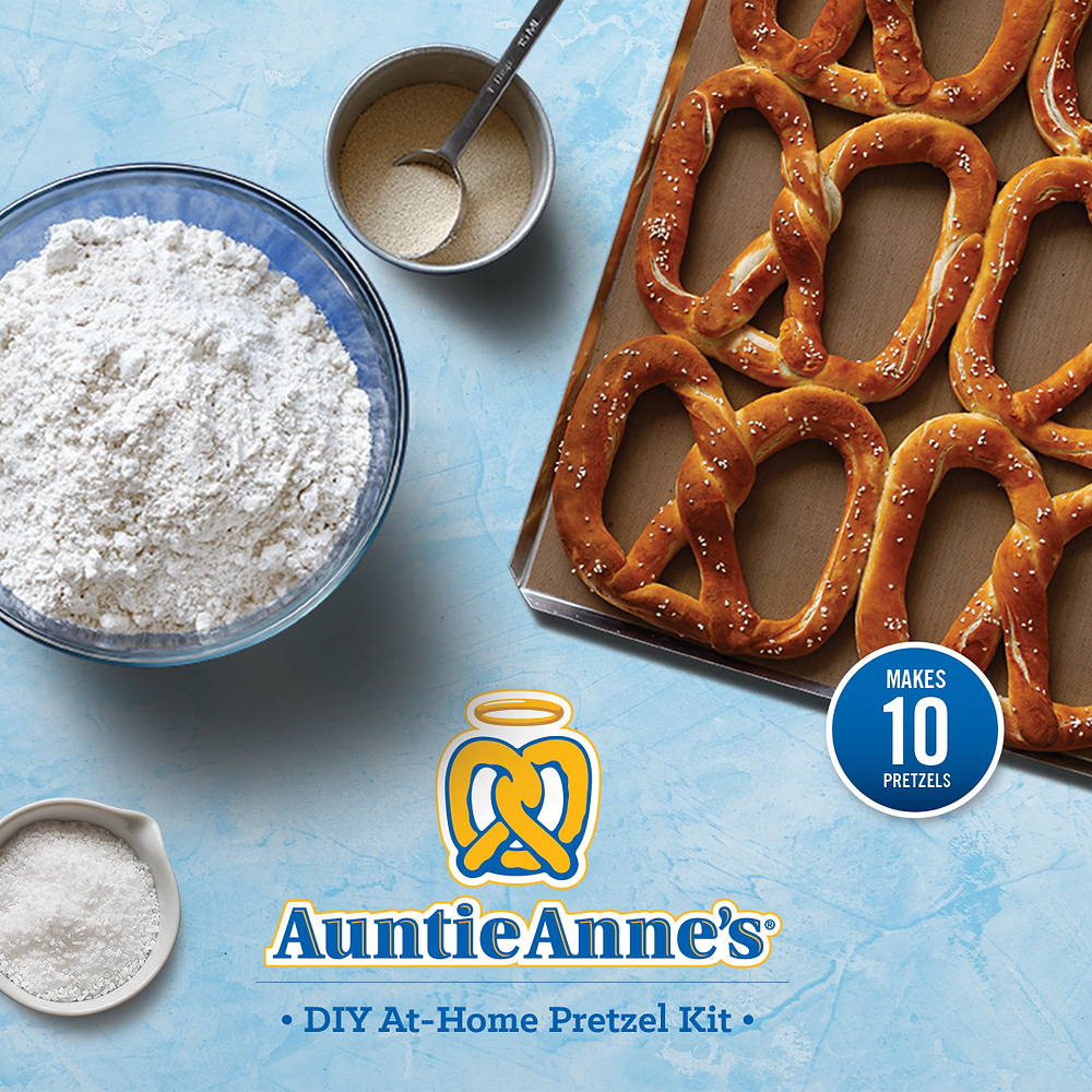 Auntie Anne's DIY Kits for making pretzels at home
