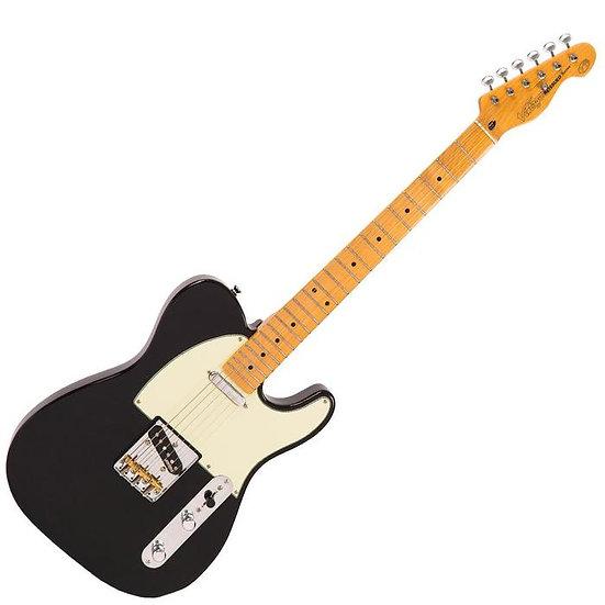 Vintage V75 ReIssued Electric Guitar ~ Gloss Black