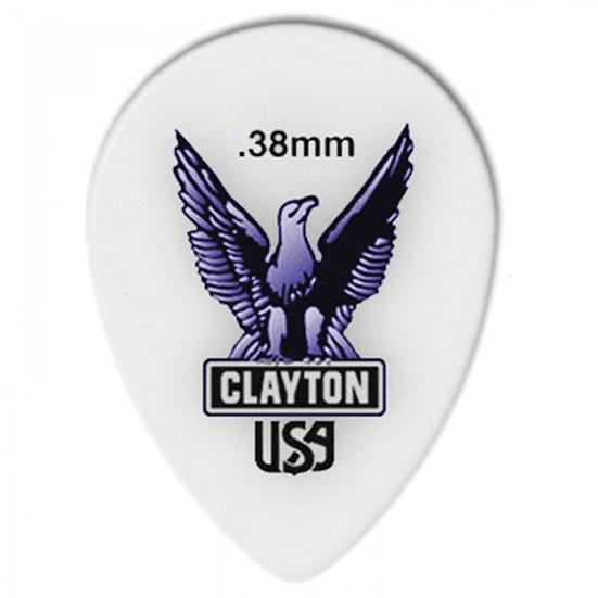 Clayton Acetal Pick Small Teardrop 0.38mm
