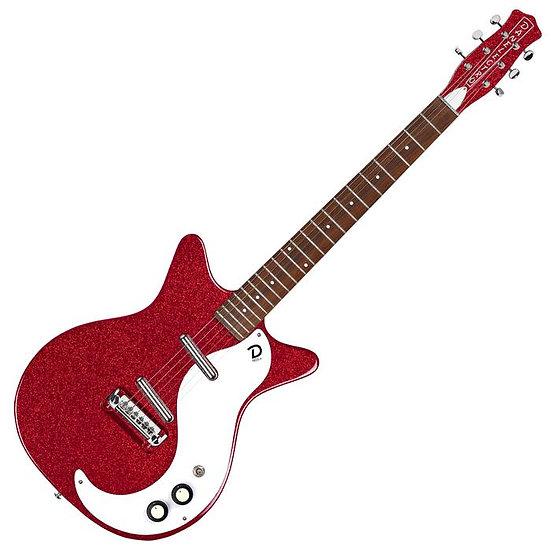 Danelectro '59M NOS Electric Guitar ~ Red Metal Flake