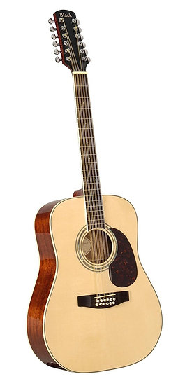 S-5/12 12-string acoustic guitar in natural finish.