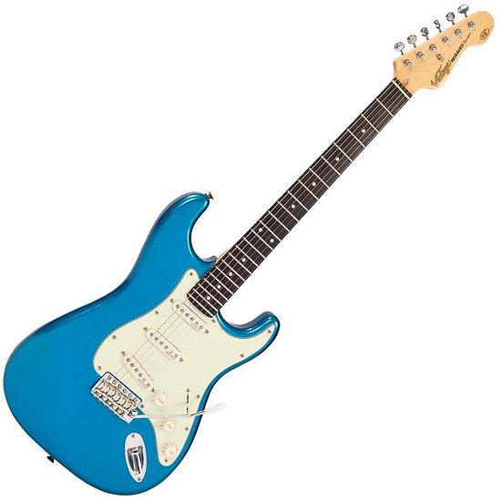 Vintage V6 ReIssued Electric Guitar ~ Candy Apple Blue