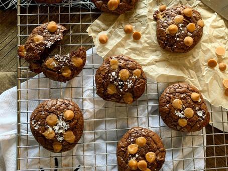 Gluten Free Pumpkin Spice Brownie Cookies