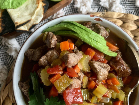 Healthier Beef Green Chile Soup