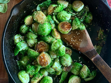 Korean BBQ Sauced Brussels Sprouts