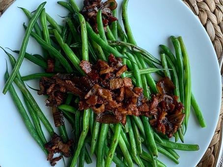 Bacon + Shallot Balsamic Jam Haricots Verts
