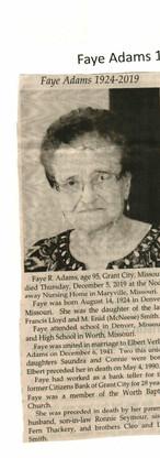 23. Faye R. Adams 2