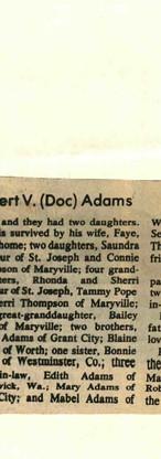 31. Elbert V (Doc) Adams