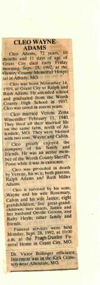 21. Cleo Wayne Adams