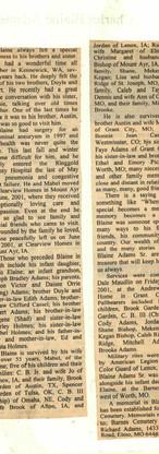 27. Charles Blain Adams Sr. 2