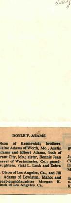 30. Doyle W. Adams
