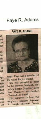 22. Faye R. Adams 1