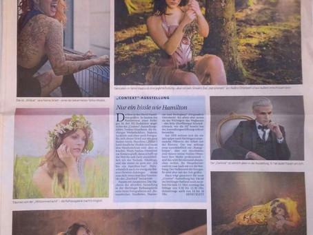 Die Hohenzollerische Zeitung widmet meiner Fotografie Sonderseite in der Samstagsausgabe