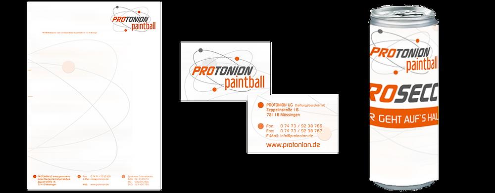 KUNSTwerk werbagentur / Hechingen für Protonion Paintball
