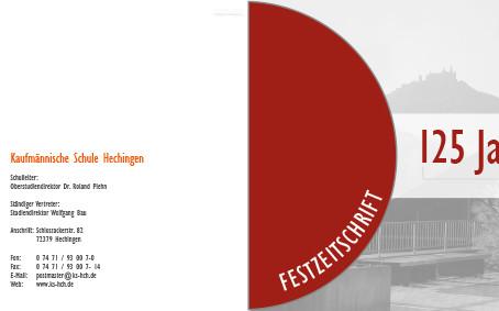 125 Jahre Kaufmännische Schule Hechingen