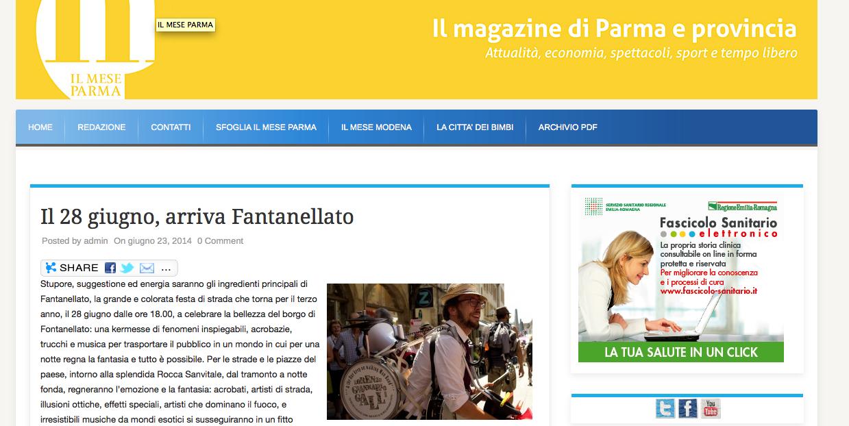 2013, Magazine di Parma, ITALY