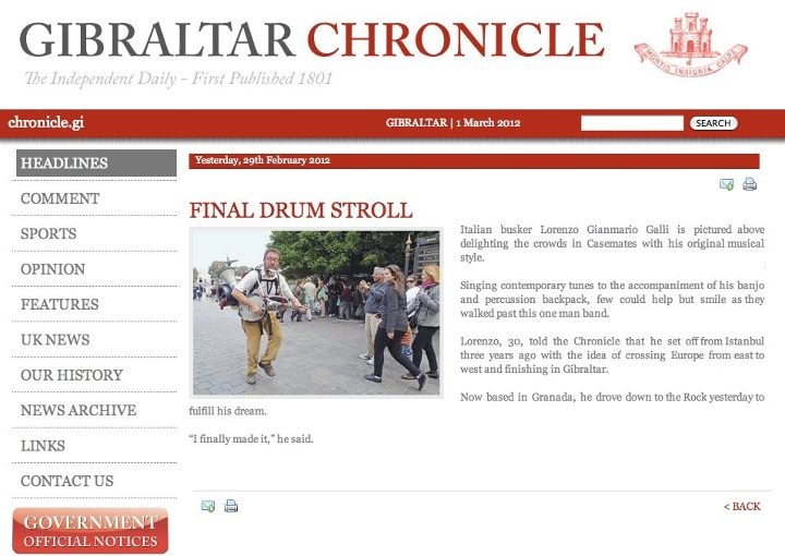 2012 - gibraltar chronicle