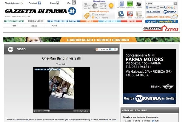 2011, Gazzetta di Parma, ITALY