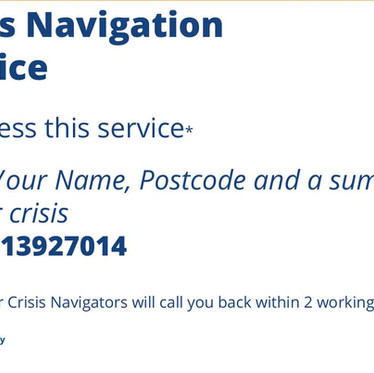 Launching our Crisis Navigation Service