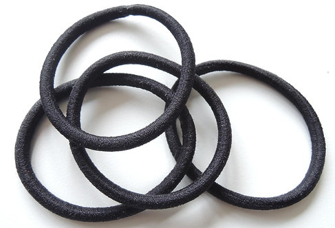 Hair Ties, Black, No Metal