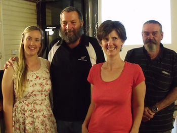 PhD student Kirilee Chaplin, QPWS Rod Hobson, Museum Victoria curator Jane Melville, Pittsworth Landcare member Wayne Geissler