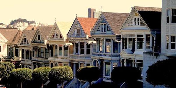 row-houses-san-francisco Fotoğraf Kaynağ