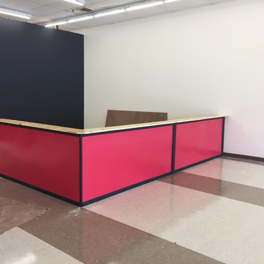 Front counter built!