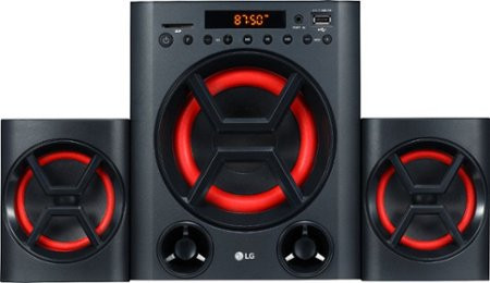 Get people on the dance floor with this LG XBOOM PA entertainment system. Two 10W speakers and a 20W subwoofer with Bass Blast+ technology get parties started with detailed audio and rich, pulsing bass. This LG XBOOM PA entertainment system has integrated Bluetooth, USB and Aux-In connectivity for streaming audio from wired and wireless sources.