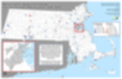Commuity Immunity Act Map of MA Immunization Exemption Rates - Senat and Non-responser Becca Rausch and MAPC