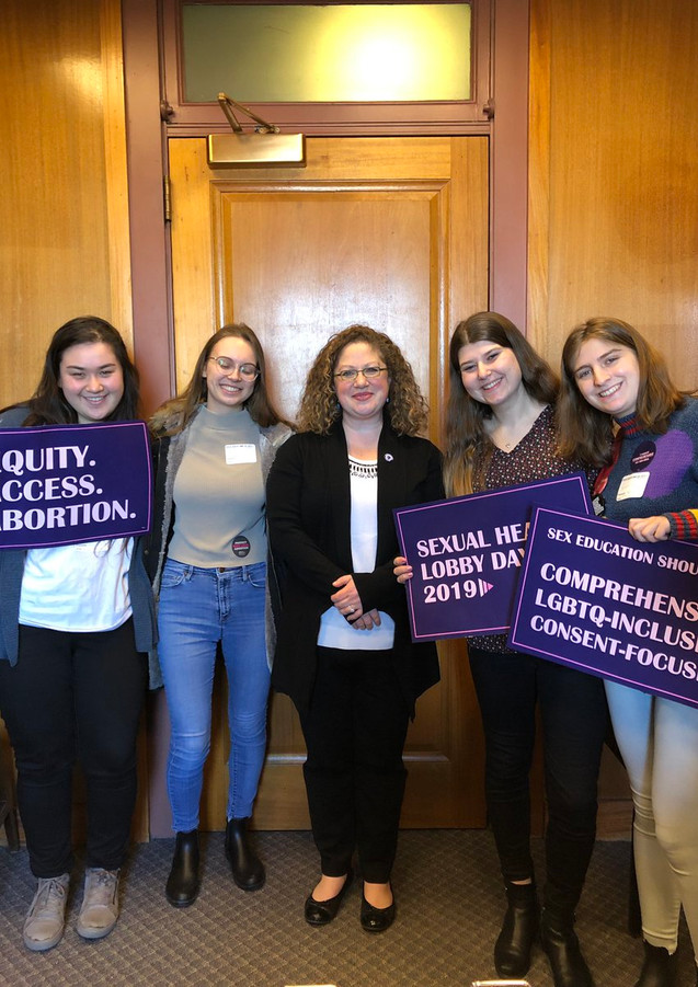 Brandeis Students at Sexual Health Lobby Day