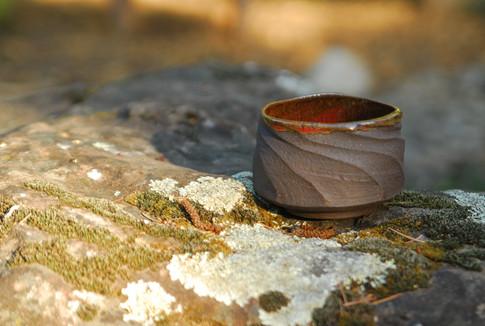 Black stoneware bowl