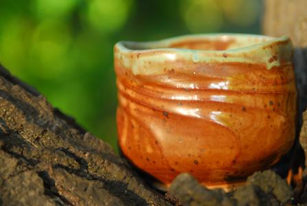 Teabowl with shino glaze