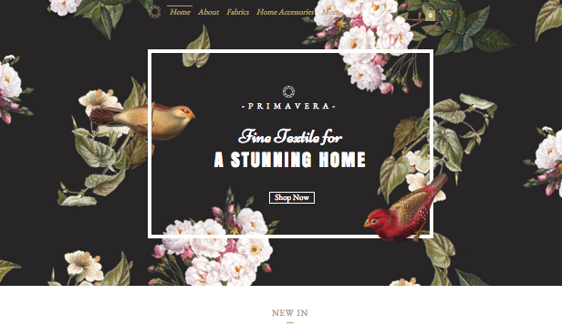 Home & Decor website templates – Textile Studio