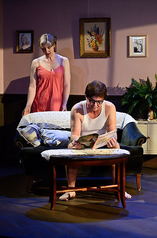 Laura Ekstrand as Catherine and Harry Patrick Christian as Don.